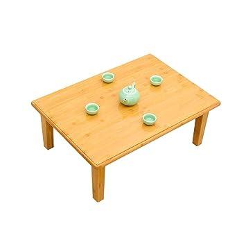 AZ Tabla-Mesa-Bambú Mesa de Centro Plegable Mesa pequeña Mesa ...