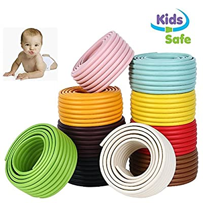 ITRAZ Baby Safety Protectors Table Edge Safe Anti-Collision Bar Corner Bumpers Guard Strip With 3M Adhesive 6.5×0.3×0.03Ft