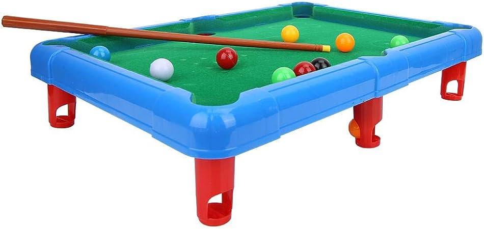 Fishlor Mini Pool Billiards, Mini Billiard Ball Table Game Snooker Pool Table Top Game Entertainment Atrezzo para niños(Azul): Amazon.es: Hogar