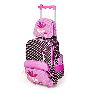 4f98cedfe8f1 70%OFF Meetbelify Rolling Backpacks School Bags Trolley Lunch Bag Pencil  Case 3PCS