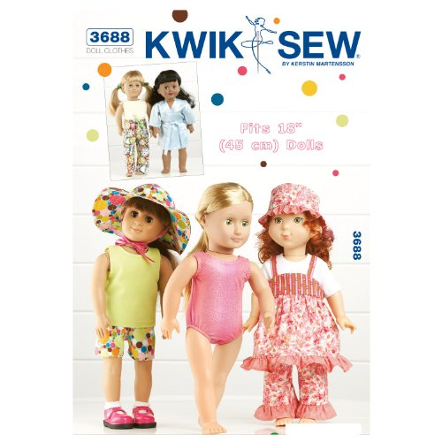 Mccall Pattern Kwik Sew K3688 Playtime Doll Clothes Sewin...