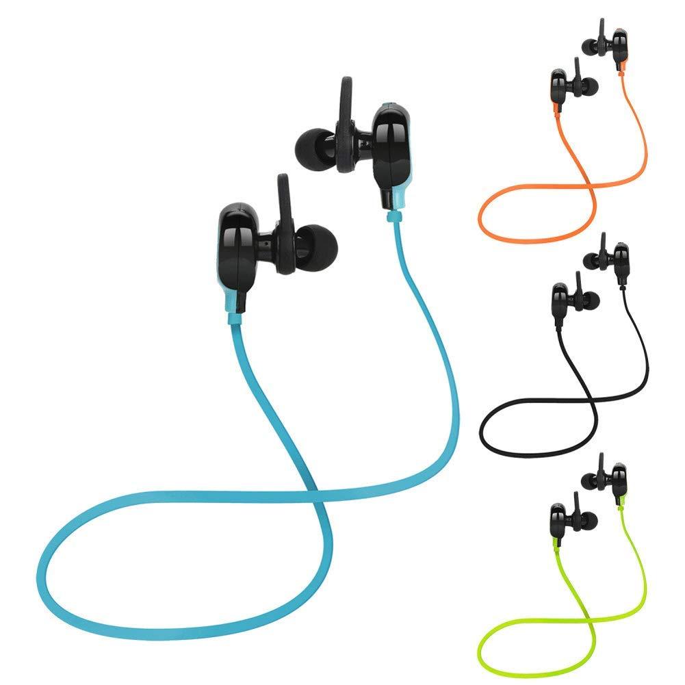 ZLLZ Bluetooth-Headset drahtloses Bluetooth-In-Ear-Headset mit Bluetooth-Nudellinie Stereo-Bluetooth-Headset kabelloses In-Ear-Headset mit HD-Stereo-CVC6.0-Rauschunterdr/ückung-Green