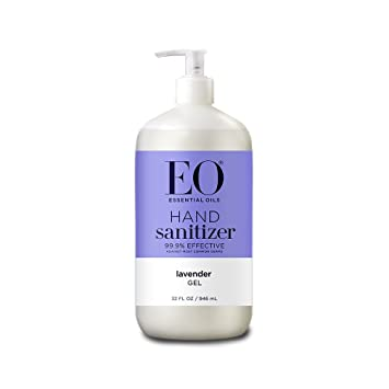 EO Botanical Hand Sanitizer Gel, French Lavender, 32 Ounce