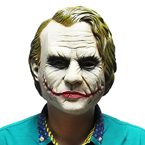 [Great Gift Joker Mask Batman Costume Cosplay Movie Adult Party Masquerade Rubber Latex Masks for] (The Joker Masquerade Costume)