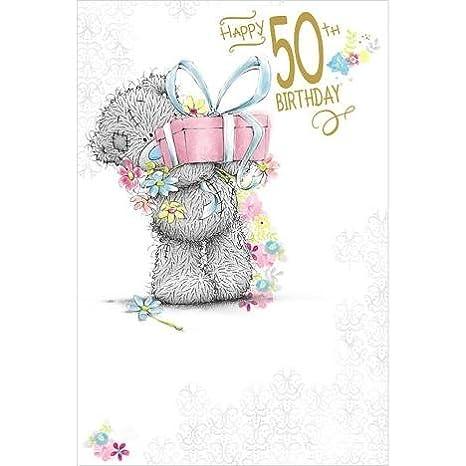 Amazon Me To You Happy 50th Birthday Card Bear Present 50