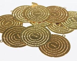 Paquete 6 Dijes Redondo De Goldfilled 14/20, Oración Padre Nuestro De 2,