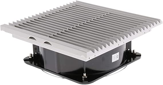 Baoblaze 10'' Ventilador Silencioso de Escape con Filtro DIY para Sistema de Enfriamiento