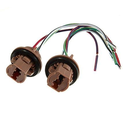 Una bombilla LED Par 7443 luz de freno Socket arnés Tapones de ...