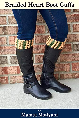 Braided Hearts Boot Cuffs Crochet Pattern A Romantic Leg Warmers