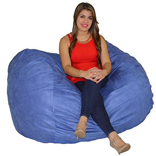 Cozy Sack Bean Bag Chair 5' With 29 Cubic Feet of Premium Foam inside a Protective Liner Plus Removable Machine Wash Microfiber Cover (Microfiber Bean Bag Chairs)