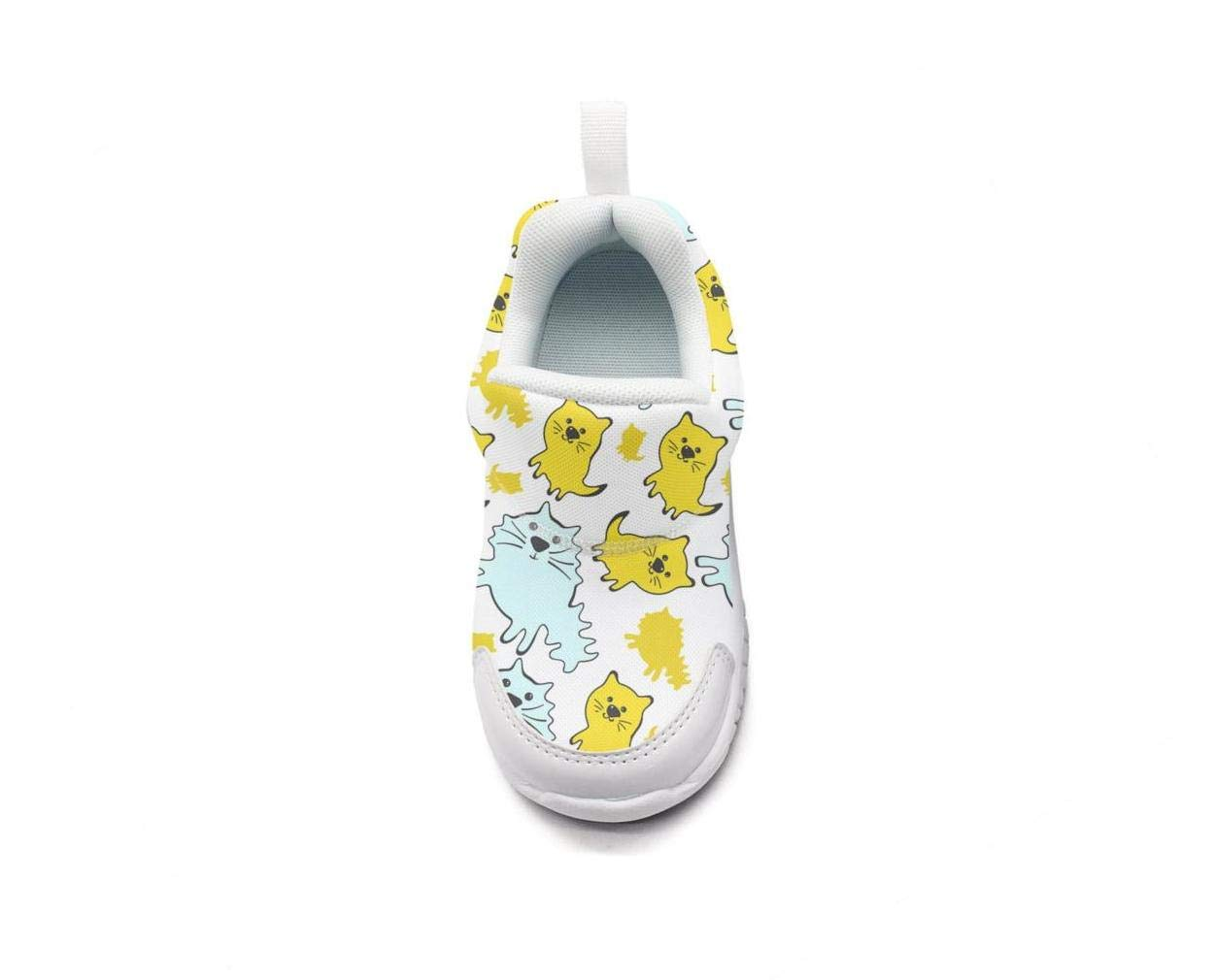 ONEYUAN Children Cute Cats Kid Casual Lightweight Sport Shoes Sneakers Walking Athletic Shoes