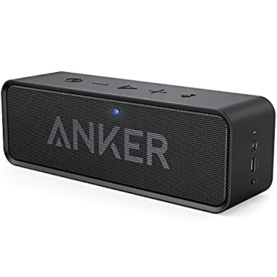 Anker SoundCore Bluetooth Speaker with 24-Hour Playtime, 66-Foot Bluetooth Range & Built-in Mic, Dual-Driver Portable Wireless Speaker with Low Harmonic Distortion and Superior Sound