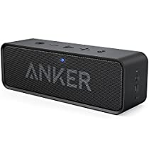 Anker SoundCore Bluetooth Speaker with 24-Hour Playtime, 66-Foot Bluetooth Range & Built-in Mic, Dual-Driver Portable Wireless Speaker with Superior Sound for Bedroom,Kitchen,Travel,Party - Black