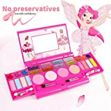 Children Cosmetic Set Princess Makeup Kit with Mirror, Pretend Play Palette Playing House Toy Birthday Gift for Girls - Non Toxic