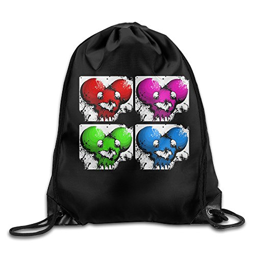 QIDAMIAO Deadmau5 Drawstring Backpack/Bags (Deadmau5 Mask Head)