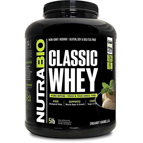NutraBio Classic Whey Protein - Creamy Vanilla 5 lbs