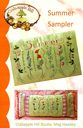 (Summer Sampler Embroidery Pattern by Meg Hawkey From Crabapple Hill Studio #235)