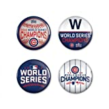 Chicago Cubs World Series Champions 4 Pack Pins