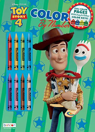 - Toy Story Bendon 45662 4 Color by# with Crayons Activity Book
