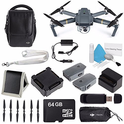 Price comparison product image DJI Mavic Pro (Fly More Combo) CP.PT.000642 + DJI Aircraft Sleeve for Mavic Pro Quadcopter CP.PT.000666 + Neck Strap Lanyard Belt Sling for RC DJI Phantom 4 3 2 Inspire 1 Remote Control Bundle