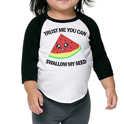 Lisenict TRUST ME YOU CAN SWALLOW MY SEED Child 3/4 Sleeve Tee Size5-6 (Advanced Warfare Halloween Costume)