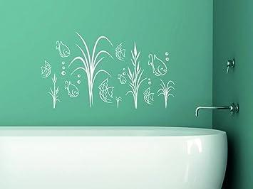 Wandtattoo Fische Aquarium Fur Badezimmer Wanddekoration Deko Ideen 70x40cm 061 Grun Amazon De Baumarkt