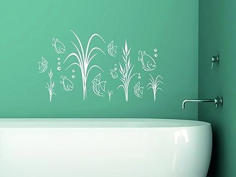 Idee Decorazione Bagno : Adesivo pesci acquario per bagno decorazione da parete decorazione