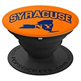 Syracuse, New York - NY State Map Orange Pop Socket - PopSockets Grip and Stand for Phones and Tablets