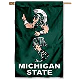 MSU Spartans Sparty Mascot Two Sided House Flag