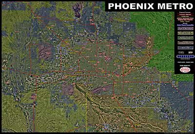 Download Phoenix Metro Aerial Photomosaic Wall Map pdf