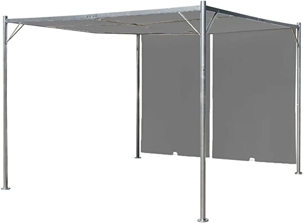vidaXL Pérgola Techo Retráctil 300x300x225cm Gris Antracita Marquesina Cenador: Amazon.es: Hogar