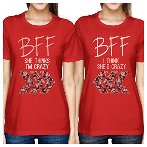 Stampa unica 365 rossa Donna Shirt Maniche Taglia corte wqSYAdz