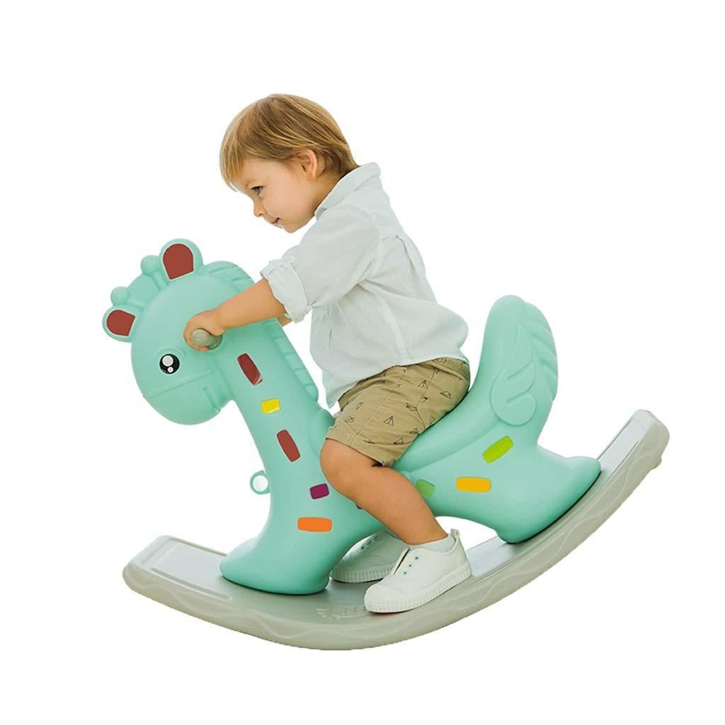 乗馬用ロッキングホース 子供のおもちゃ ロッキングチェア ロッキング 馬 厚め 子供のおもちゃ ロッキングチェア トロイス 最高のギフト 88*39*56cm グリーン 88*39*56cm グリーン B07L4PLSM9