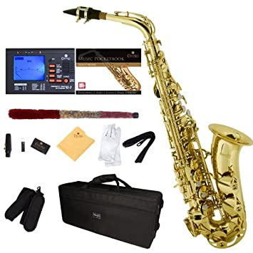LADE WSS-950 Carved Brass Tenor Sax Saxophone Silver with Cork ...