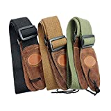 Muxico® Cool Design Cotton Leather Guitar Strap,green