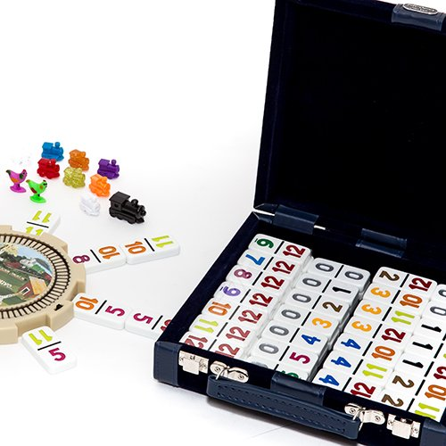 Bello Games Elegant Designer Velour Case with Mexican Double Twelve Deluxe Dominoes Set by Bello Games New York, Inc.