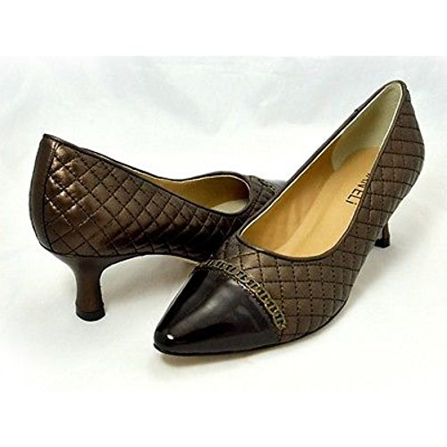 Quilted Womens Pumps - VANELi Womens Pamela Castagno Quilted Leather Pumps - M - 9.5 Brown