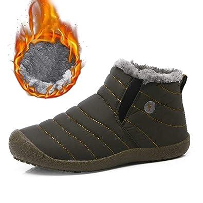 SITAILE Herren Schneestiefel Outdoor Boots Winter Kurzschaft Stiefel Warm  Gefütterte Winterschuhe,01-grün, cf388898f0