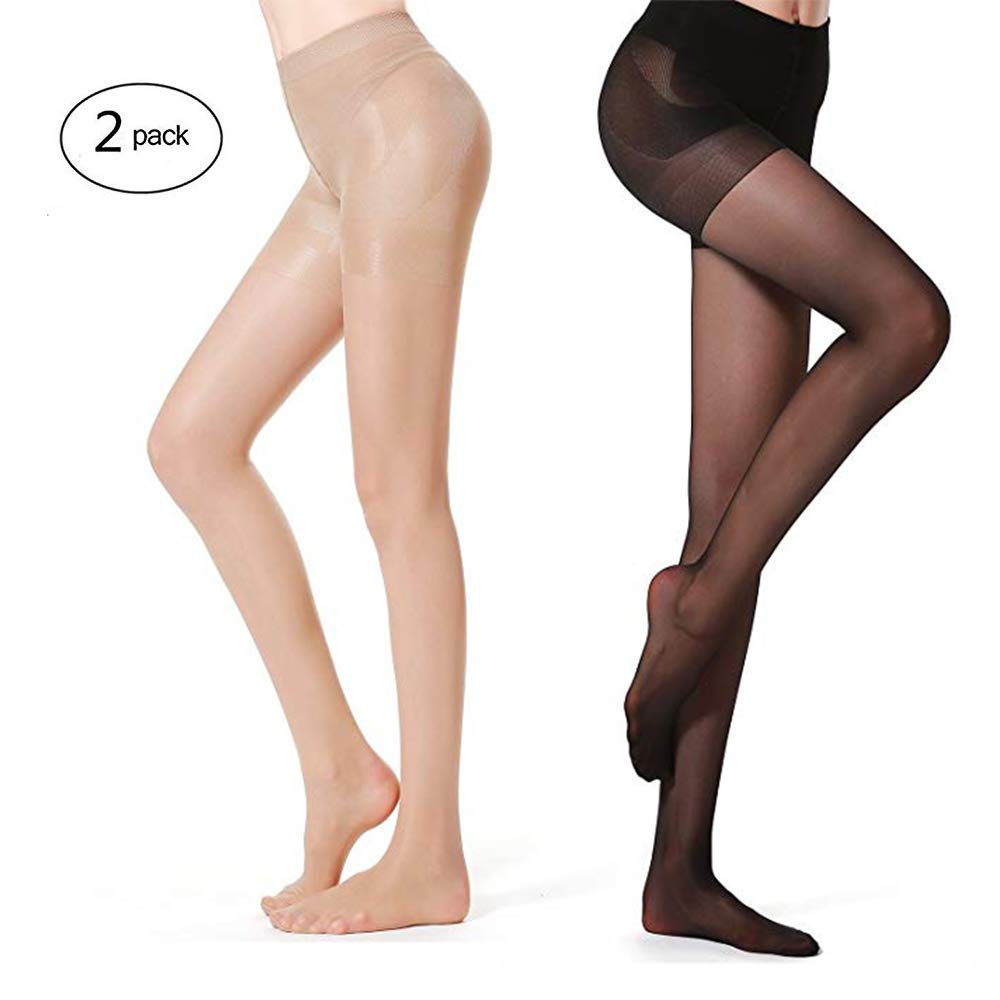 40ff48c86 SUREPOCH Women s Semi Opaque Tights Half Sheer Pantyhose Control Top Push  Up at Amazon Women s Clothing store