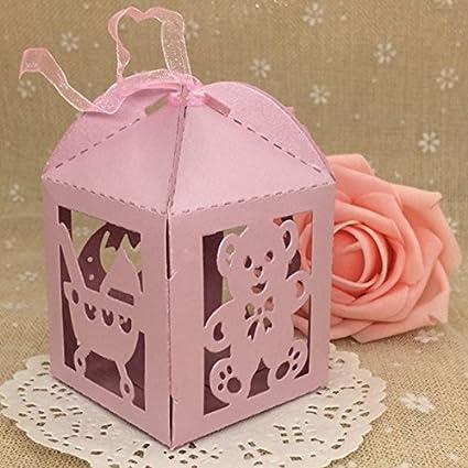 ChenXi Shop - Juego de 12 botellas de leche de oso huecas, cajas de regalo