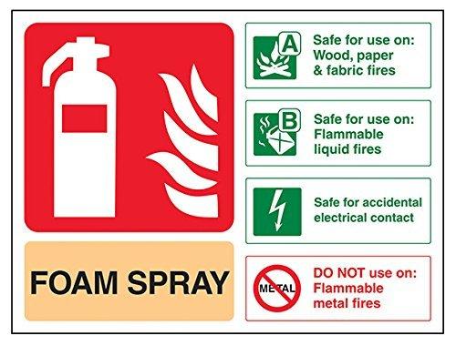 Señal de extintor de incendios, spray de espuma seguro para ...
