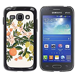 Caucho caso de Shell duro de la cubierta de accesorios de protección BY RAYDREAMMM - Samsung Galaxy Ace 3 GT-S7270 GT-S7275 GT-S7272 - Lemon Tree Orange Apple