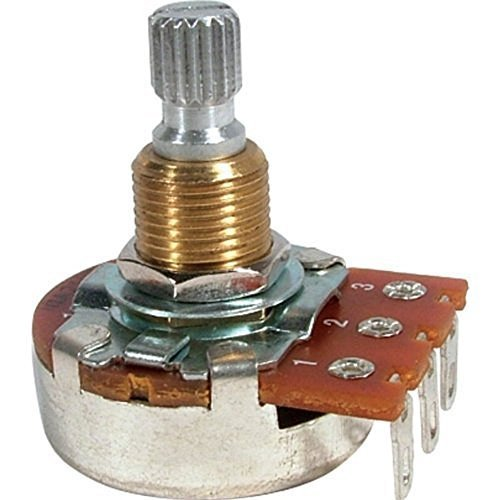 Set of Four (4X) Bourns 500K SHORT Split Shaft Audio Taper Low Friction Potentiometers
