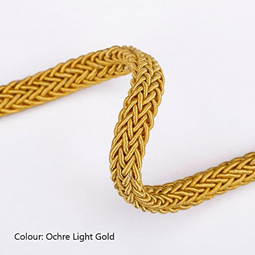 Neotrims Tubular I Cord trimming in Viscose, Crochet Woven, 8mm Braided Jewellery Plaited Rope Cord Trim. Herringbone Design Effect. Unique and in a Variety of Sensational Tonal Colours for Decorating in Jewellery making, Trimming Apparel or Footwear, or Home Décor , French Tubular, Great Wedding Trimming.