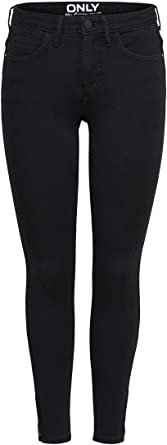TALLA L. Only Onlkendell Eternal Ankle Black Noos Jeans para Mujer