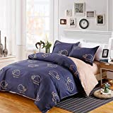 DeerHome Soft Children Duvet Cover Set whale pattern Reversible Boys Girls Bedding Set 3 Pieces with 2 Pillow Cases Best Bedding Gifts for Kids