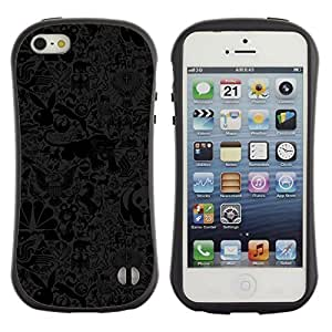 Suave TPU Caso Carcasa de Caucho Funda para Apple Iphone 5 / 5S / Panda Bear Puma Rabbit Wallpaper Misha / STRONG