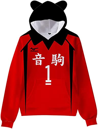 Xiao Maomi Adult Haikyuu Nekoma Hoodie Aoba Johsai Cosplay Jersey Sweatshirt Pullover Sweater Costume Halloween