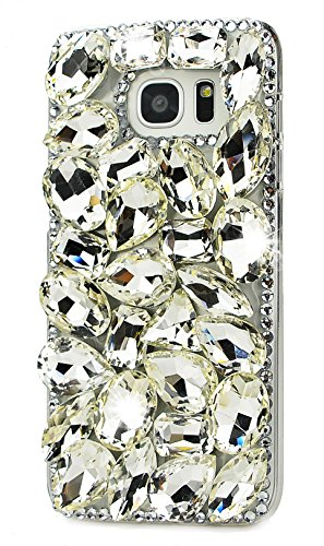 Samsung Galaxy S8 Plus Case, STENES 3D Handmade Luxurious Crystal Sparkle Diamond Rhinestone Clear Cover with Retro Bowknot Anti Dust Plug – Pretty Rh…