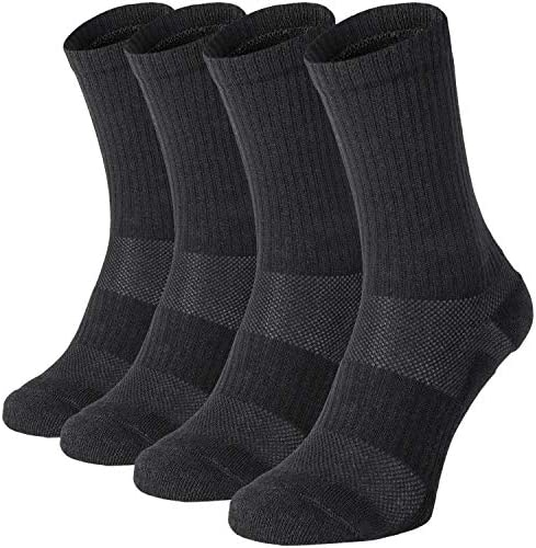 281Z Military Cotton Micro Crew Boot Socks Odor Resistant Cushioned Sole Moisture Wicking